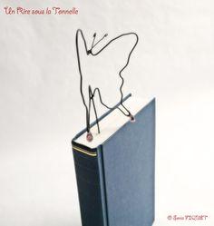 Bookmark Wire Butterfly par UnRiresouslaTonnelle sur Etsy, €18,00 © Sonia FIQUET