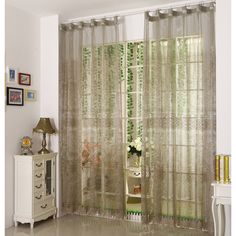 Modern style sheer curtains can give you an elegant life. The pattern is filling a sense of modern. This sheer curtain has a good verticals sense. Grey color can add a special feel to your room. Sheer Curtains, Gray Color, Elegant, Stylish, Modern, Fabric, Pattern, Room, Furniture