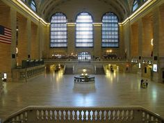Grand Central Station, evacuated. Eerie.