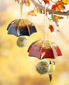Krmítko pro ptáky Deštník, sada 2 ks | VELKÝ KOŠÍK