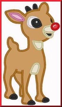 Christmas Reindeer Digitized Embroidery Machine Applique Design | Applicakes - Needlecraft on ArtFire