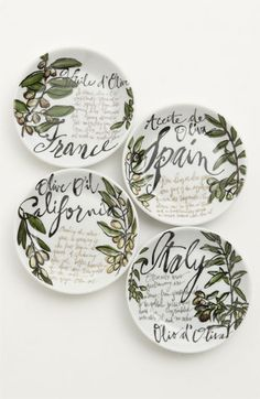 Rosanna Olive Oil Dipping Dishes (Set of 4) available at #Nordstrom