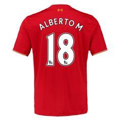 Liverpool Jersey 2015/16 Home Soccer Shirt #18 Alberto.M