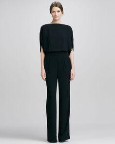 Diane von Furstenberg Lucy Crepe Jumpsuit - Neiman Marcus