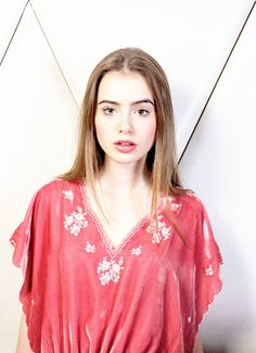 lily collins.love her makeup and sleek hair