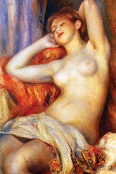 Sleeping, by Pierre-Auguste Renoir