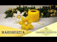 TUTORIAL: Margherita all'Uncinetto 🌼 - YouTube Crochet Mat, Thread Crochet, Crochet Hair Accessories, Crochet Hair Styles, Fabric Flower Brooch, Fabric Flowers, Crochet Flower Tutorial, Crochet Flowers, Creative Crafts