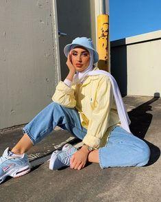 Hijab Fashion Summer, Modest Fashion Hijab, Modern Hijab Fashion, Street Hijab Fashion, Modesty Fashion, Hijab Fashion Inspiration, Muslim Fashion, Modest Outfits Muslim, Fashion Ideas