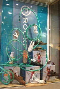 Retail Window Display Ideas | Spring/Summer Was thinking also water guns, flip flops, water noodles and multi color beach balls