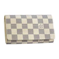 Louis Vuitton Outlet Tresor Wallet Damier Azur Canvas N61744
