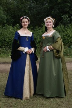 Henrician Period gowns.