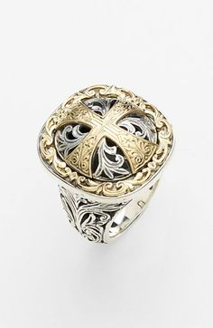 Konstantino 'Classics' Cross Two-Tone Ring available at #Nordstrom. Sterling Silver and 18kt  Maltese Cross