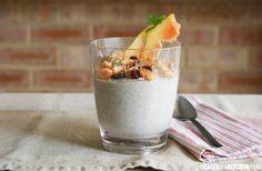 raw buckwheat chia porridge with apple pineapple and papaya