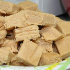 Velveeta Peanut Butter Fudge... I know this sounds crazy but this is the best fudge... I have to make it every year or I have people yelling at me... you can't taste the cheese at all!!! I've added 1/2 c cocoa powder too super yummy!