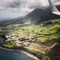 #Flying in to St. Kitts in the Caribbean