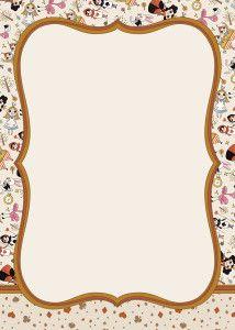 FREE: printable Alice In Wonderland invitation template