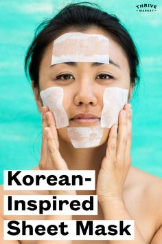 Korean sheet masks aren't a fad—they're the real deal when it comes to giving skin a glow. And you can make a DIY version with just 3 ingredients. Diy Beauty Essentials, Diy Sheet Mask, Skin Brightening, 3 Ingredients, Masks, Glow, Things To Come, Korean, How To Make