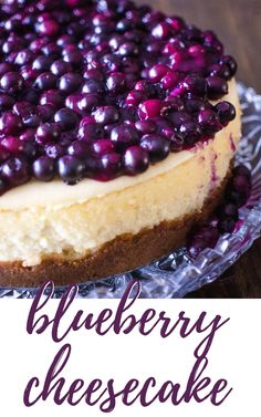 Make this Blueberry Cheesecake for your family! This simple cheesecake with berries is perfect for any occassion. New York Cheesecake topped with tasty blueberries.