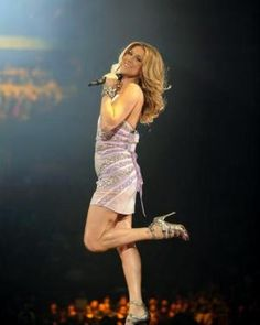 celine dion. she's just amazing. she's gorgeous and there are no words for how amazing her voice is!