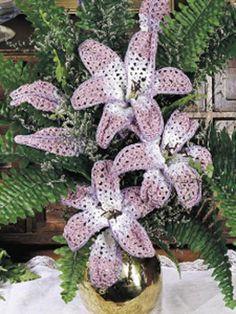 free, lily flower crochet pattern