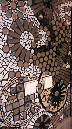 detailed view of the entrance hall mosaic