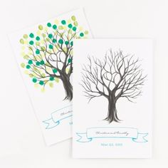 thumbprint tree guest signature poster | unique guest books | wedding reception ideas at Invitations By Dawn