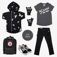 Just Black Scared Of The Dark, Baby Online, Kind Mode, Kids Fashion, Clothing, Shopping, Black, Style, Outfits