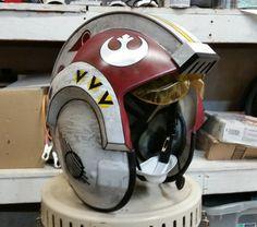 Custom painted X-Wing Pilot Helmet by DHPFX on Etsy