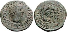 "Damnatio memoriae - Lucius Aelius Sejanus  This coin was minted in Hispania around 31 AD then Sejanus, a praetorian guard commander and Tiberius' right-hand man, was at the peak of his career. His name ""Seiano"" was also in this coin - down right from text cos -  but it was removed after Sejanus' downfall."
