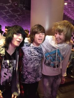 Johnnie Guilbert, Damon Fizzy, and Bryan Stars at The Warped Tour Kick Off Party