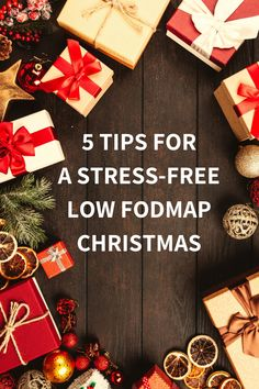 Being on the low FODMAP diet during Christmas can be stressful. With these tips I help you to survive the holidays without stress and as little IBS complaints as possible Fodmap Diet, Low Fodmap, Recipe Database, Fodmap Recipes, Lactose Free, Food Festival, Ibs, Lunches And Dinners, Food To Make