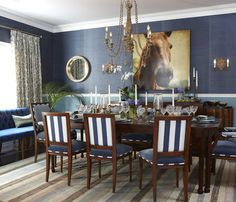 Varied Finishes Navy Dining RoomsDining Room