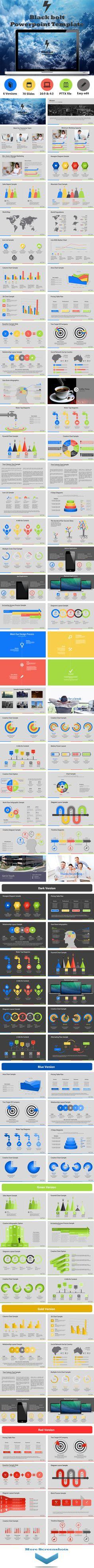 Blackbolt Powerpoint Template (PowerPoint Templates) Preview #Powerpoint #Powerpoint_Template #Presentation