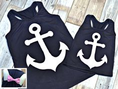 Ladies & Girls Anchor Tank: Starting at $11.99 and FREE SHIPPING for one week only!  The perfect Mommy & Me look!