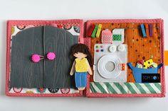 Dollhouse for Alex, Quiet book by TomToy Ola Loginova