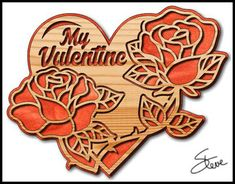 My Valentine Roses Scroll Saw Pattern.