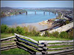 West Virginia ~ Parkersburg confluence of ohio and kanawha rivers- Fort Boreman
