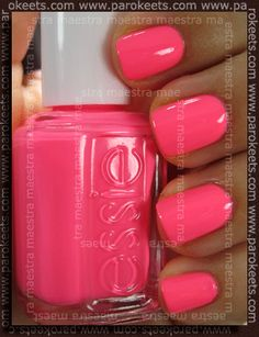 Victoria, I did this just for you :) I think this is the color that you were looking for...it's punchy pink :)
