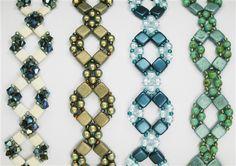 'Diamond Tila' Bracelet and Earrings by Deb Roberti, AroundTheBeadingTable.com