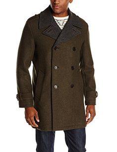 c975c97cc4 Cole Haan Men s Doubleface Wool Coat with Leather Accents
