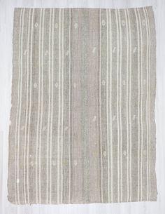 "6'4""x8'6"" (194x261cm) Vintage modern decorative white grey striped Turkish kilim rug,FREE SHİPPİNG by Woveny on Etsy https://www.etsy.com/listing/255520483/64x86-194x261cm-vintage-modern"