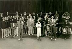 1938 George Burns & Gracie Allen At CBS Radio On Sunset Blvd. in Hollywood