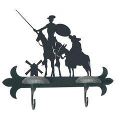 Perchero Quijote y Sancho