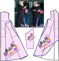 بشرى قانون للتفصيل و الخياطة: تشريح موديل الفستان القميص او البلوزة الطويلة على ...