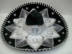 Authentic Mexican Mariachi Sombrero Charro Hat True Adult 23 Black Silver for sale online Mariachi Hat, Mexican Mariachi, Mexican Hat, Character Creation, Diy Wedding, Black Silver, Mexico, Arts And Crafts, Crochet