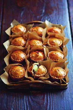 Piggy Pies with Quail's Eggs