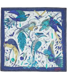 Emma J Shipley Blue Audubon Print Silk Scarf | Scarves by Emma J Shipley | Liberty.co.uk