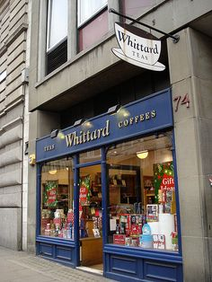 Whittard of Chelsea - one of my favourite tea and coffee shops