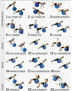 exercices swiss ball #exerciseball exercices swiss ball