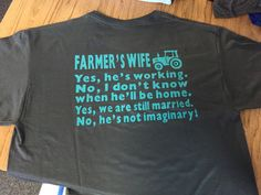 Farmer's Wife Shirt with tractor by SouthernStandardsCo on Etsy